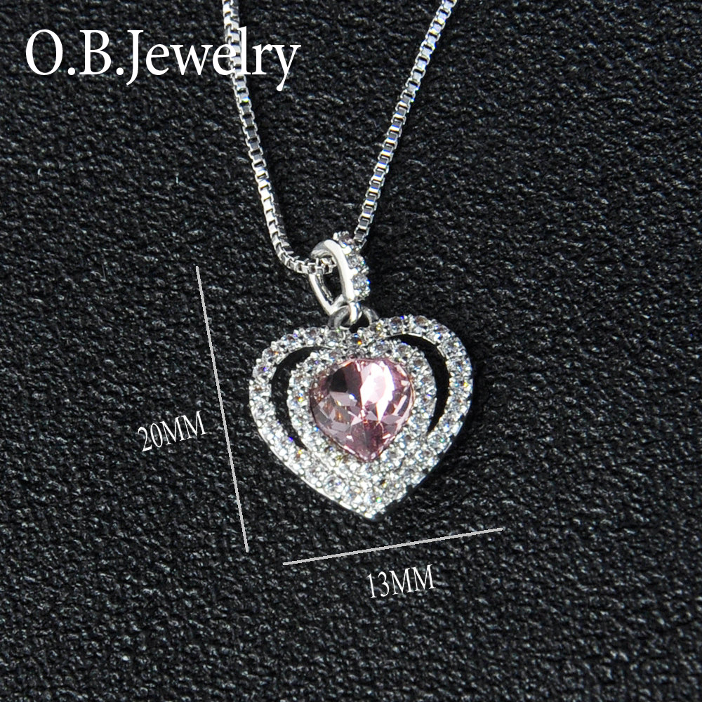 Simple Heart Shaped Style Jewelry Fashionable 925 Sterling Silver Pendant