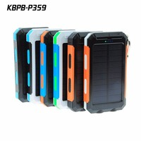 10000mAh Double USB Portable External Battery Power Bank Solar Charger For Cell Mobile Phone