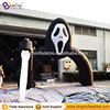 Hot sale giant grisly inflatable ghost arch with knife for Halloween Haunted House decoration