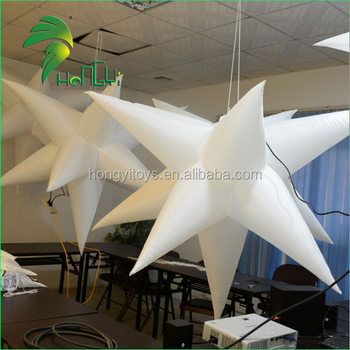 Inflatable hanging star , colourful star balloon, led light star