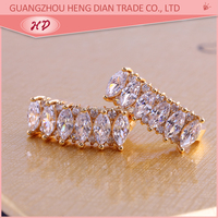 wholesale 2016 latest 18k gold plated earrings jewelry fashion earrings for 1 dollar