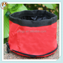 Portable oxford cloth waterproof folding dog bowls
