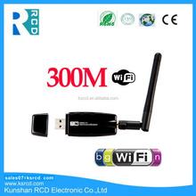 Mini USB Wireless 802.11 b/g/n WiFi Adapter for Android 300Mbps adapter Antenna USB WiFi Wireless Adapter with external antenna