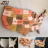 Big magnetic plywood scratch map world