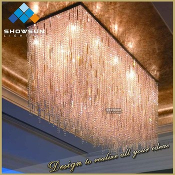 Octagonal beads acrylic chandelier for wedding decor