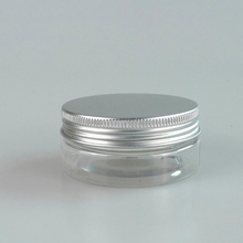 Cheapest clear PET plastic jar 100 ml with plastic or aluminum cap for sweet