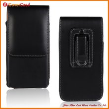 Wholesale universal magnetic Vertical flip belt clip leather cases for iphone 6