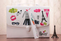 cute China a4 13 pockets handle and lock expandable document holder