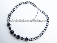 YN5147 crystal ball women neck chain accessories wholesale necklace