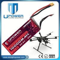 Upower rechargeable 10000mAh 6s make car battery for RC airplane UAV