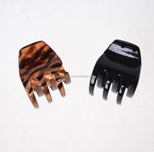 Celluloid For Sexy Claw Jaws Hair Clips accessories material Five Finger Design Hair Claw Clip