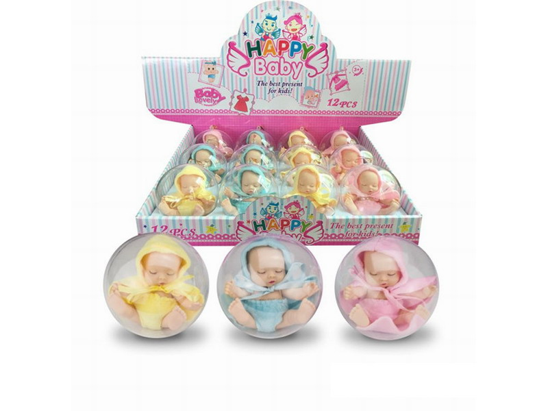 12cm PVC egg shape mini vinyl doll toy