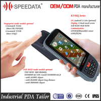 IP65 Waterproof Rugged Portable PDA Mobile Data Terminal support Android Handheld Fingerprint Scanner and RFID Reader Writer