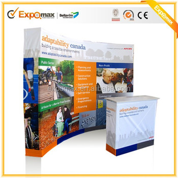 Expomax Promotion Advertising pop up display 8ft fabric pop up stand