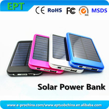 New 6000mAh Solar Power Bank Solar Panel Charger Kit with LED light