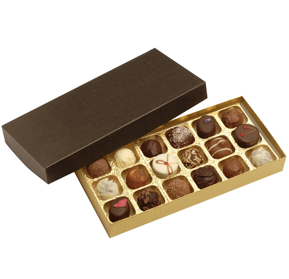 wholesale alibaba customized chocolate blister tray 20 pcs, chocolate box with clear lid