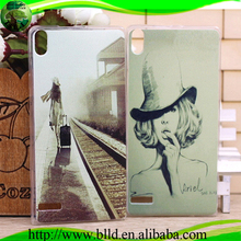 Supply all kinds of clear tpu case, Customized Printing case cover for huawei p6