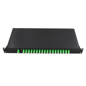 Passive plc splitter 1*N 1x2 1x4 1x8 1x16 1X32 1X64 fiber optical splitter for epon/gpon/ftth networks
