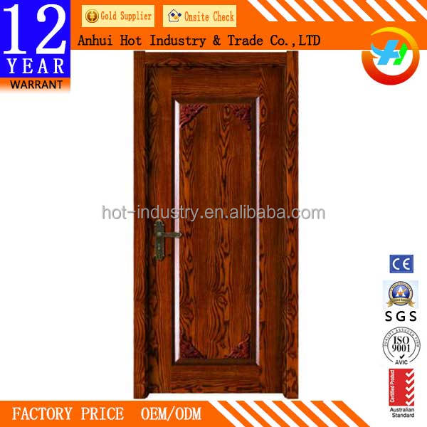 2016 New Style Solid Wooden Door Soundproof Fire Rated Wooden Door Can Customize Pattern Interior Door