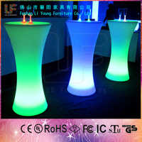 Stylish Color Remote Control Wholesale Bar Tables outdoor led modern bar counter round table with lazy susan