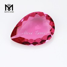 Top Machine Cut Pear Pink Glass Diamonds