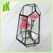 house glass hanging/self-standing vase planter ||| wholesale geometric glass vase decorate with christmas