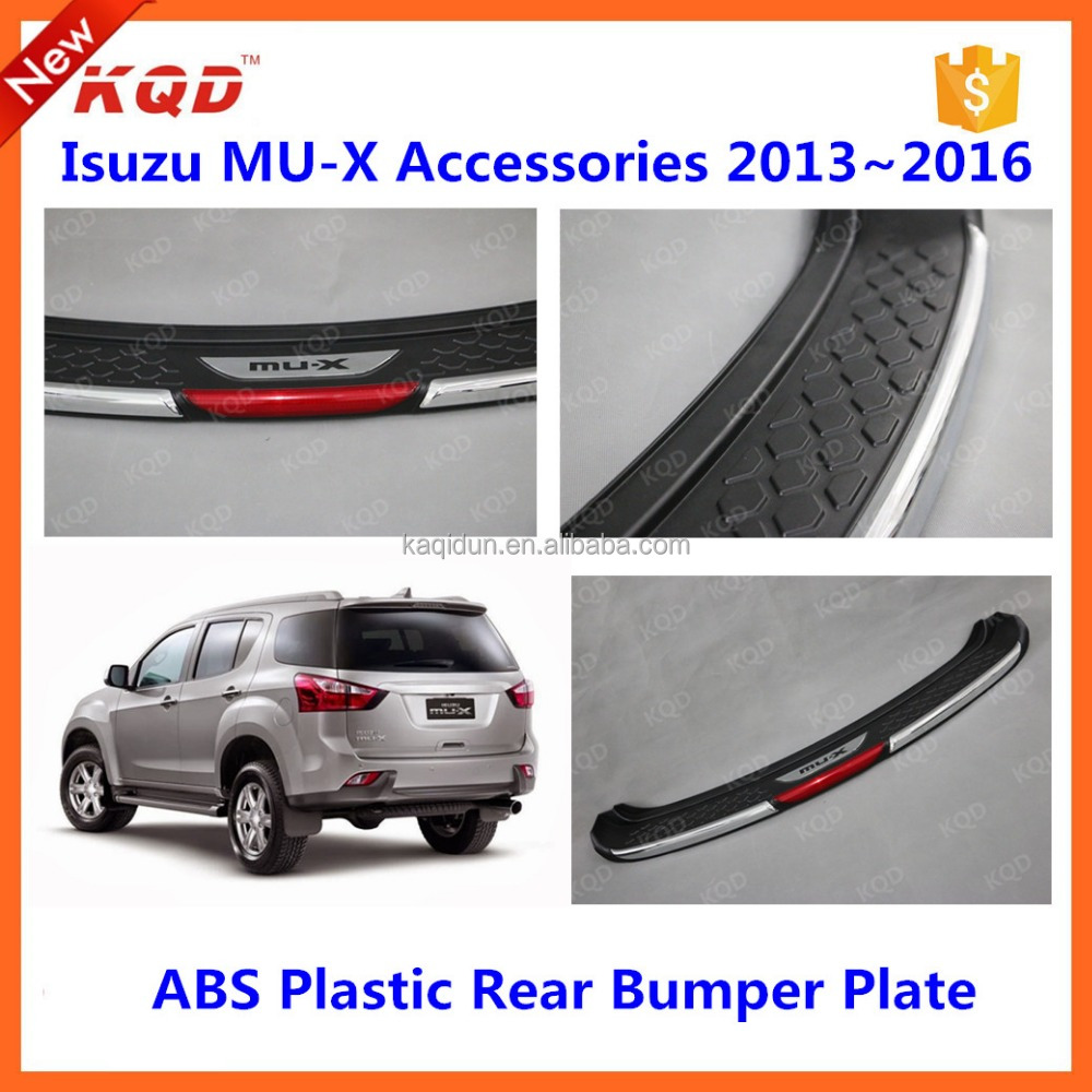 matte black auto accessories mu-x body kit rear bumper foot plate for mu-x isuz