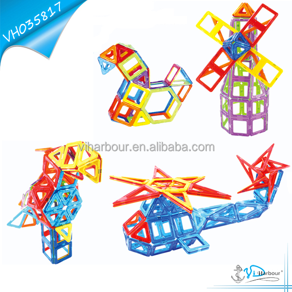 DIY Magnetic Educational Play and Learn Blocks Bird Helicopter Wildmill 52pcs