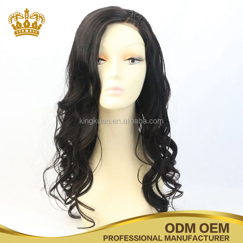 Dark color 100% human remy full lace wig