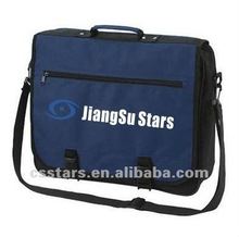 Navy student shoulder messenger bag with polyester