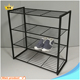 Hot sale Square tube Iron Pipe 4 tier Shoe Rack Capactity 12 pairs Shoe Shelf Made in Shenzhen