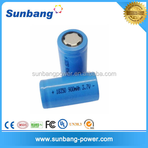 Factory price 18350 3.7v 900mah li-ion battery for e-cig mod