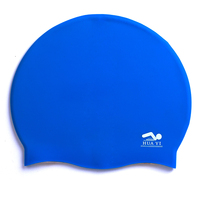 Customized silicone swim cap hat one color swimming caps free size