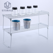 chrome stainless wire mesh storage basket rack shelf kitchen table metal wire plate rack
