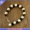 Costume Jewelry 2015 Handmade Freshwater Pearl Leather Bracelet Designs