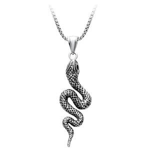 Jewellery pendant necklaces antique silver animal flexible snake necklace