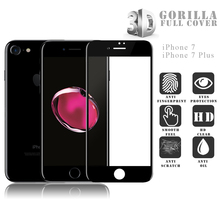 VMAX Wholesale Full Size Covered 3D Curved Gorilla Glass For Iphone 7 7plus Tempered Glass Screen Protector