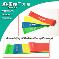 ANY-001 Custom good quality Set of 4 bands loop for gym sets for sale,resistance bands loop with bag
