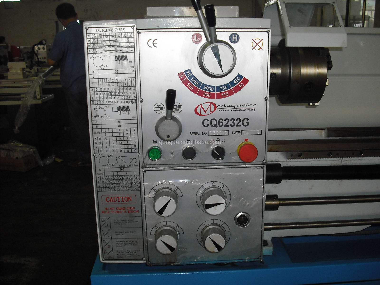 CQ6236G high quality universal lathe, metal lathe, parallel lathe, engine lathe big bore 52mm at a discount