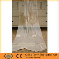 shaoxing factory wholesales velvet attached embroidery drapes and curtains