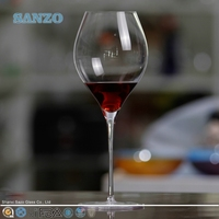 SANZO high white fluted wine glasses