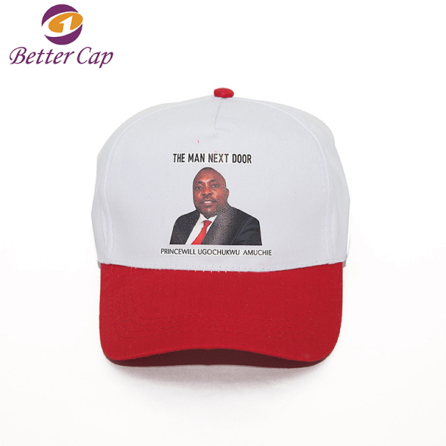 cheap price promotion face printed south africa election cap