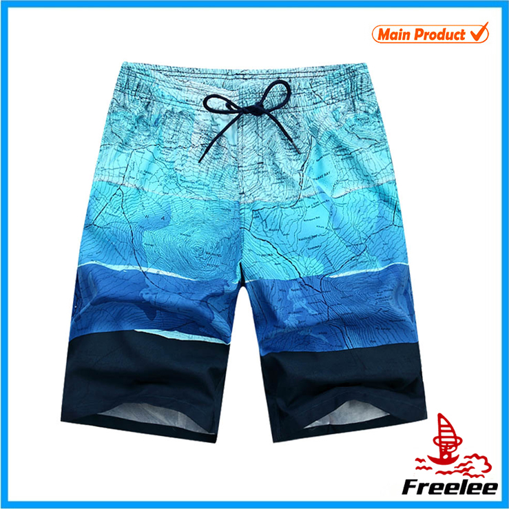 2015 100% polyester mens swim shorts, beach shorts men