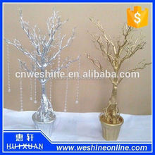 Popular Gold Crystal Artificial Tree or Wedding Tree Centerpiece