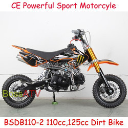 Orange 4 Stroke Manual 110CC 125CC 150CC Dirt Bike with Monster Stickers