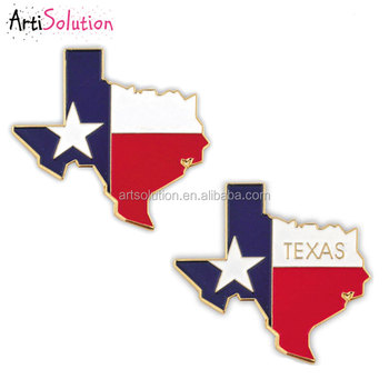Metal Type Hard Enamel Custom New Classy Design TEXAS TX Flag Lapel Tie Pin