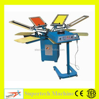Alibaba 4/6/8 Color Manual Textile Screen Printing Machine Used