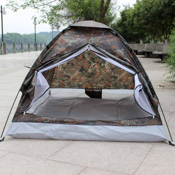 Camping Tent for 2 Person Single Layer Waterproof Outdoor Portable Camouflage H11111