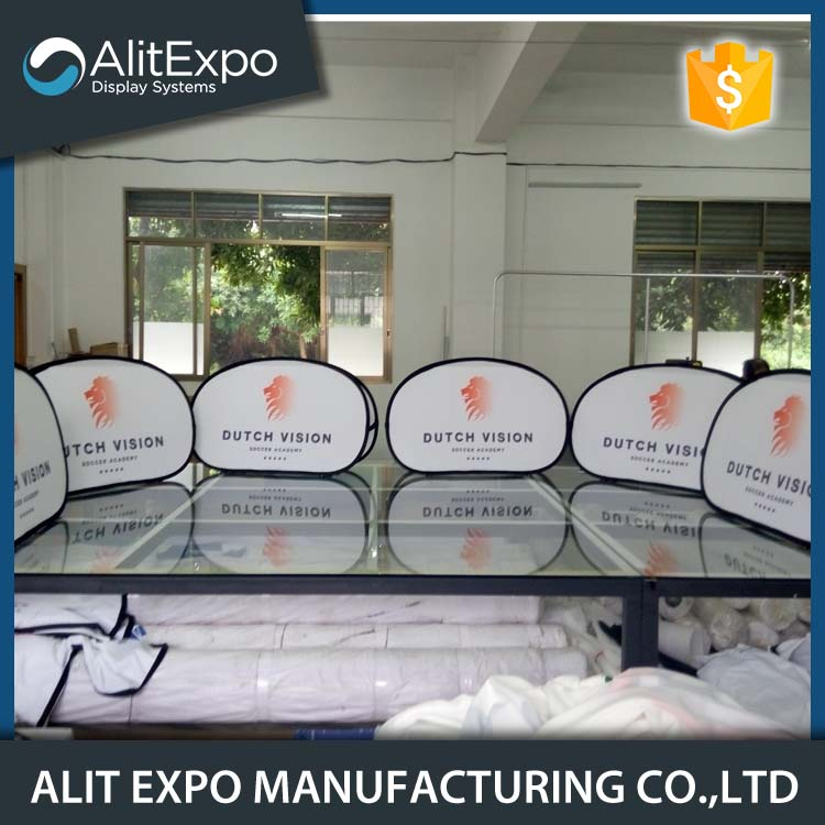 custom size outdoor free standing banner with cheap price