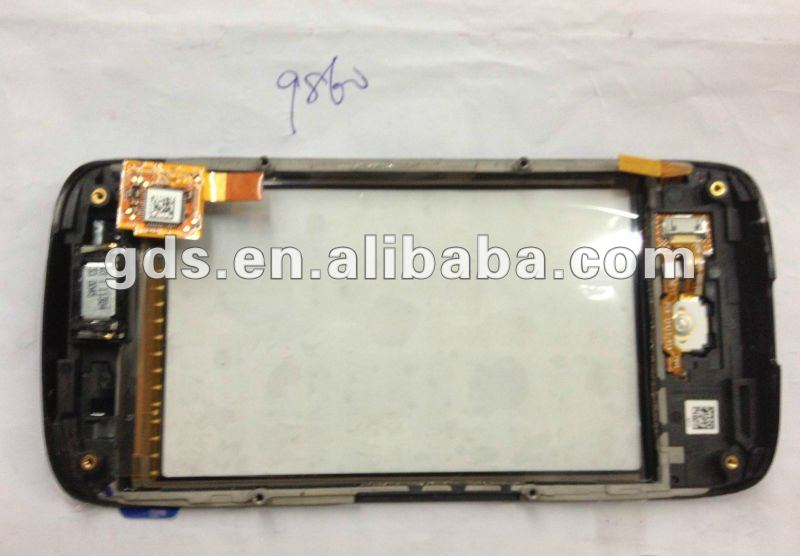 For B.B 9860 Touch Glass censor with front cover assembly